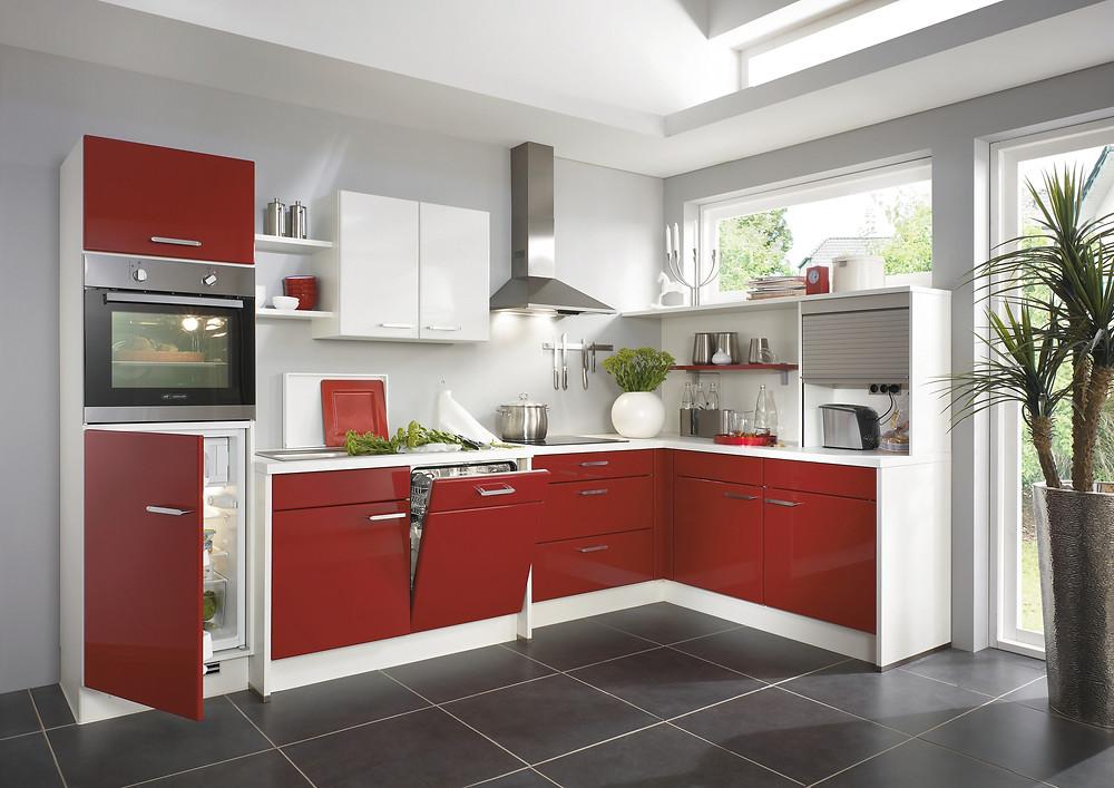 eine L-Küche von dem Modell #Flash 501