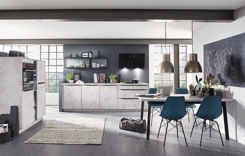 Eine Zeitgerechte Moderne #Küche in #Keramikgrau #Speed 281.