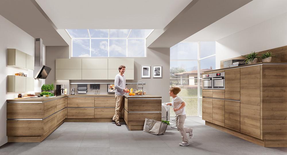Wohlfühlküche die #Riva 894 und die #Touch 335 bei den Hängeschränken
