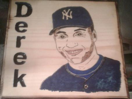 Derek Jeter Plaque.
