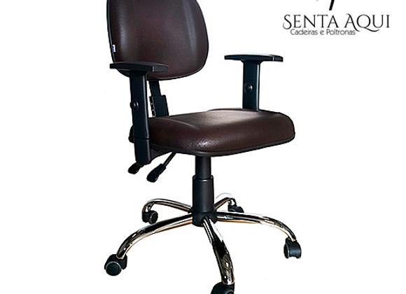 Cadeira Secretária Executiva Back System Cromada