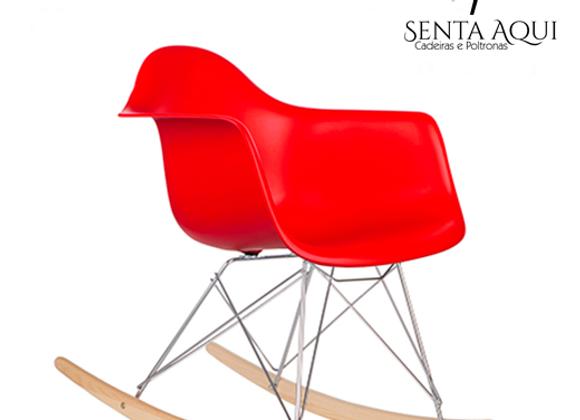 Cadeira Design Charles Eames - Vermelha