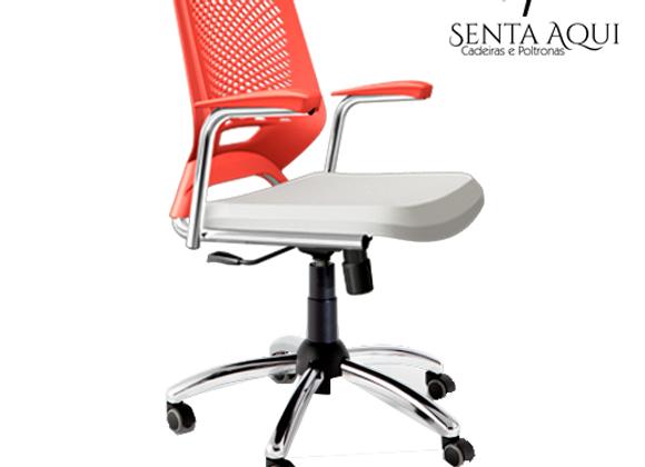 Cadeira secretária Beezi - Cromada