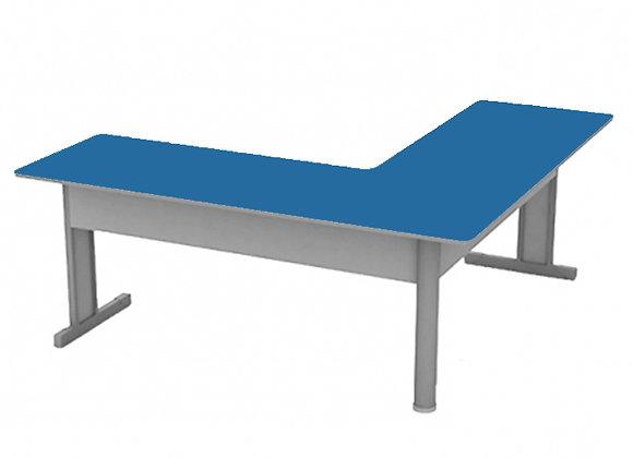 Mesa L M15 azul e cinza 120x120