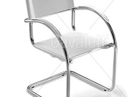 Cadeira Secretária Cavaletti Chroma - Aproximação
