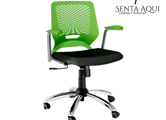 Cadeira secretária Beezi - B Cromada