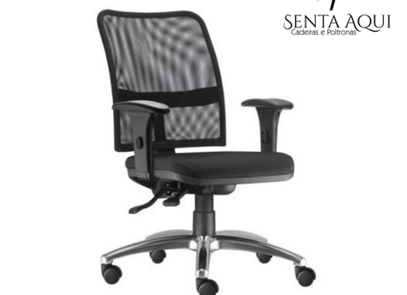 Cadeira Secretária Soul - Com Braço - Tela
