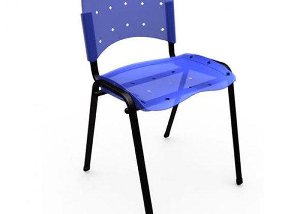 Cadeira fixa Ergoplax azul translúcido