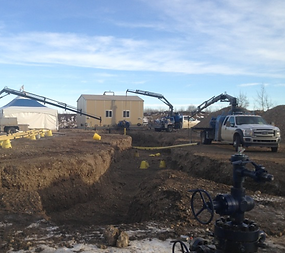 Pipeline Construction Sundre Alberta