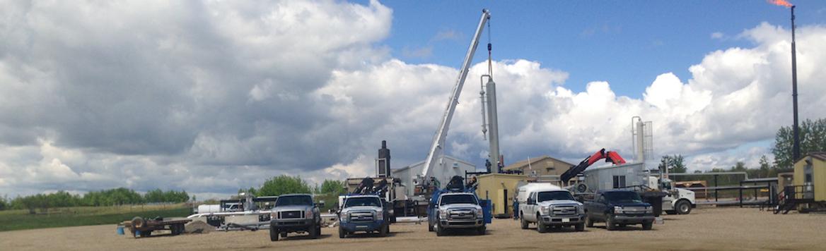 Oilfield Facility Construction Sundre Alberta