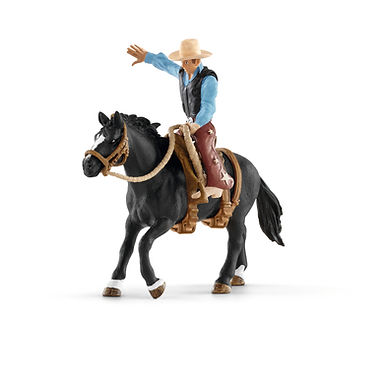 SCHLEICH 41416  SADDLE BRONC RIDING WITH COWBOY