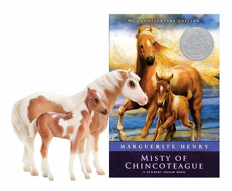 Breyer 1157 MISTY & STORMY - MODELS AND BOOK SET FAMOUS CHINCOTEAGUE PONIES