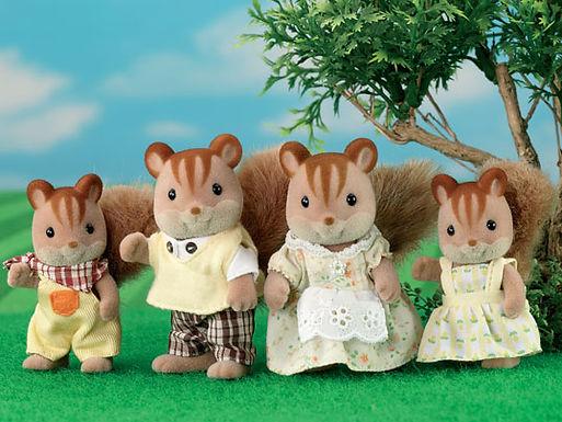 4172 Walnut Squirrel Family