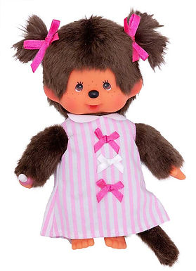 MONCHHICHI 20 cm Girl Pink Ribbon Dress