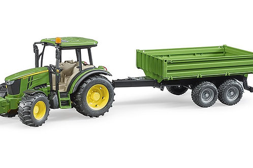 Bruder John Deere 5115 M with tipping trailer
