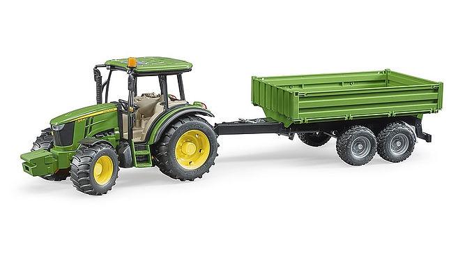 Bruder John Deere 5115 M with tipping trailer