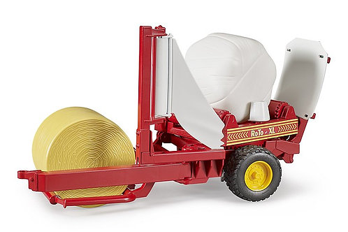 Bale wrapper with round bales