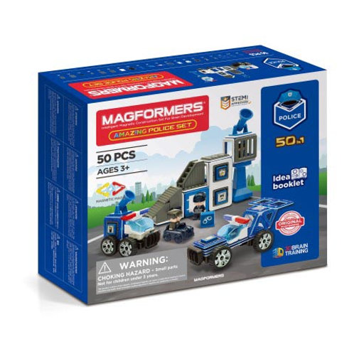 Magformers Amazing 50-in-1 Police Set