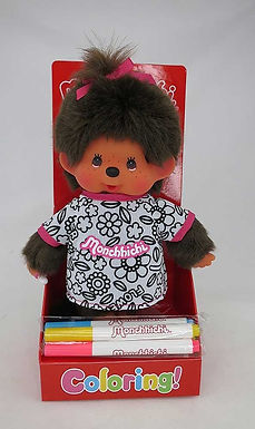 MONCHHICHI 20 cm Girl Coloring T-shirt with 4 color markers