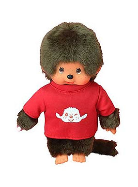 MONCHHICHI 20 cm Boy with T-shirt Red