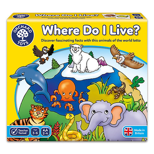 Orchard Toys - Where Do I Live Game