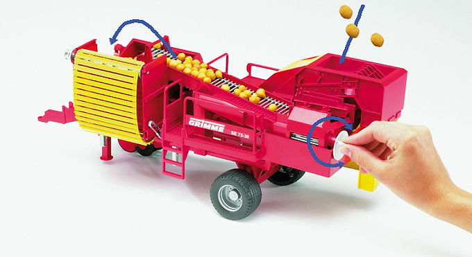 Grimme SE75-30 potato digger with 80 imitation potatoes