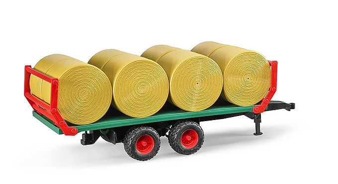Bruder Bale transport trailer with 8 round bales