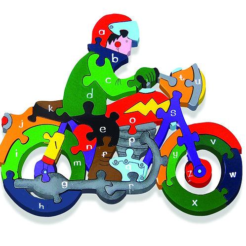 Alphabet Jigsaws Alphabet Motorbike