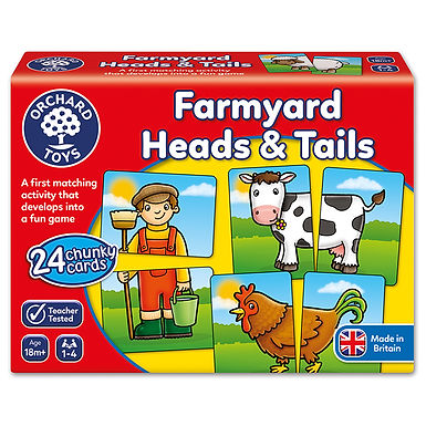 Orchard Toys - Farmyard Heads & Tails Game