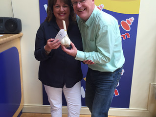 MARITA DROPS INTO LMFM TO DISCUSS DELICIOUS IRISH GARLIC & ASPARAGUS RECIPES WITH GERRY KELLY