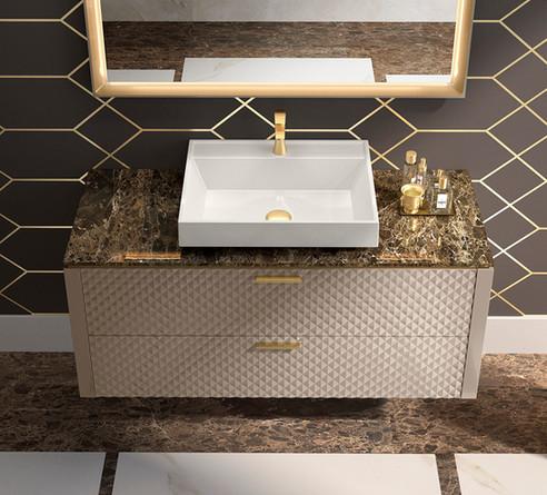 Lame Marmo Gold Vanity Unit