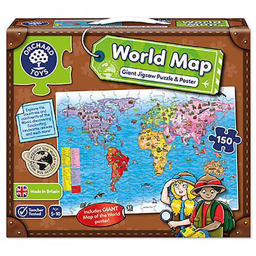 Orchard Toys - World Map Puzzle & Poster