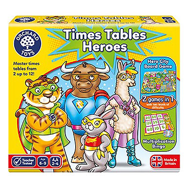 Orchard Toys - Times Tables Heroes Game