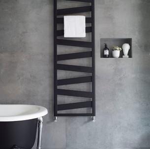 Ribbon Heated Towel Rail