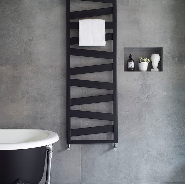 Ribbon Heated Towel Rail