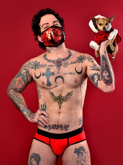 Abrigo navideño para perro rojo