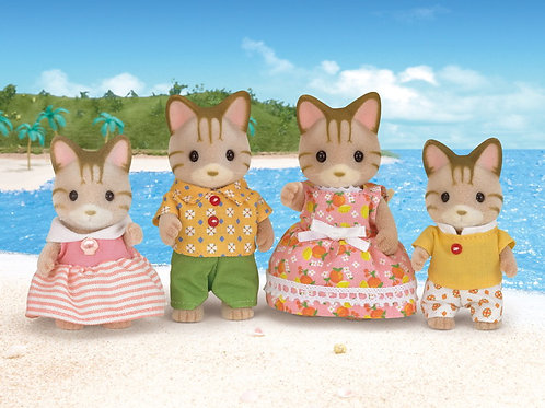 Sylvanian Families Stripped Cat Family