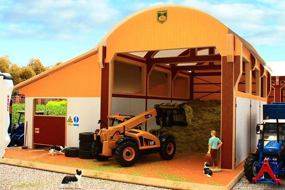 8985  Silage Clamp With Cubicle House lean-to - Premium Dutch Barn -