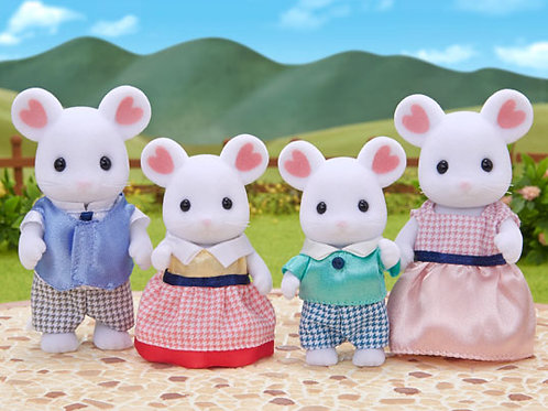 Sylvanian Families Marshmallow Mouse Family