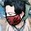 Thumbnail: Cubrebocas Lentejuelas rojo