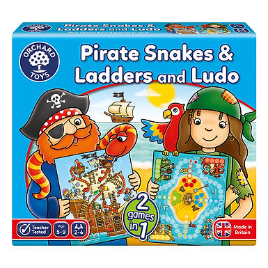 Orchard Toys - Pirate Snakes and Ladders & Ludo Board Game