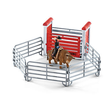 SCHLEICH 41419  BULL RIDING WITH COWBOY