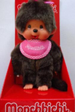 MONCHHICHI 20 cm Girl with bib pink