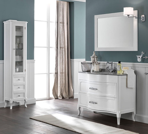 Rachele Pearly White Quartz TopClassic Vanity Unit