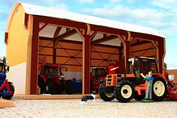 Brushwood Tractor Shed - Dutch Barn Style