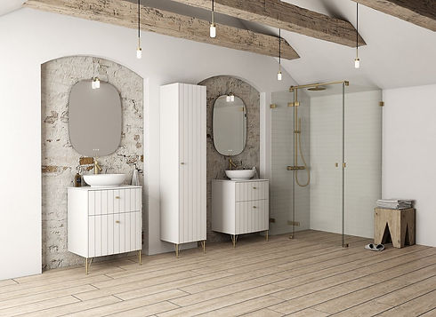 Dansani vanity unit collection with Matki shower collection