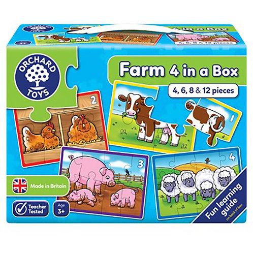 Orchard Toys - Farm Four in a Box Jigsaw