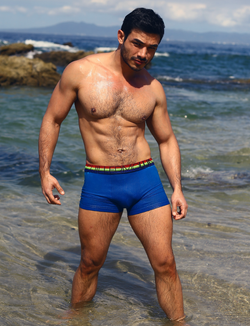 Boxer Azul