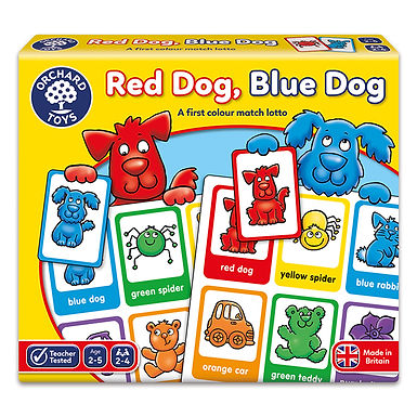 Orchard Toys -  Red Dog, Blue Dog Game