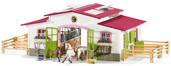 SCHLEICH 42344 RIDING CENTRE WITH RIDER AND HORSES